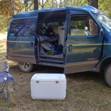 safari camper van at camp