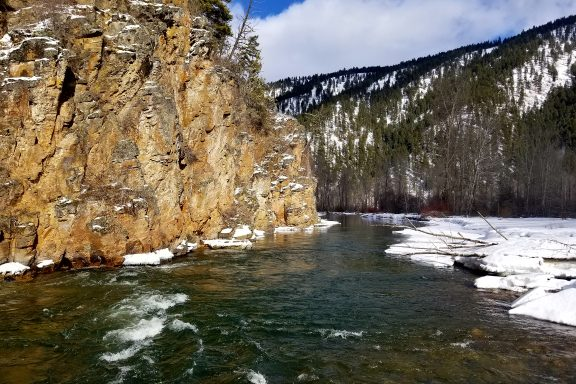 rock creek winter fishing