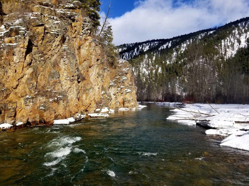 rock creek winter fishing