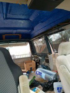 Camper Van Conversion - Interior Subfloor -