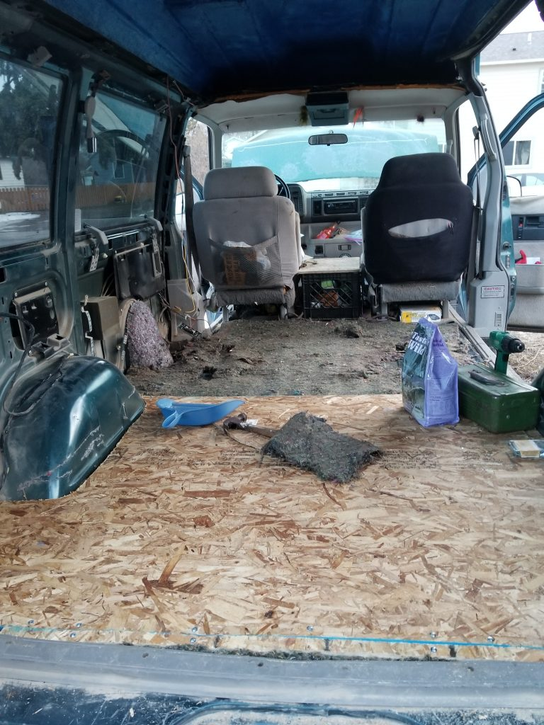 campervan plywood floor