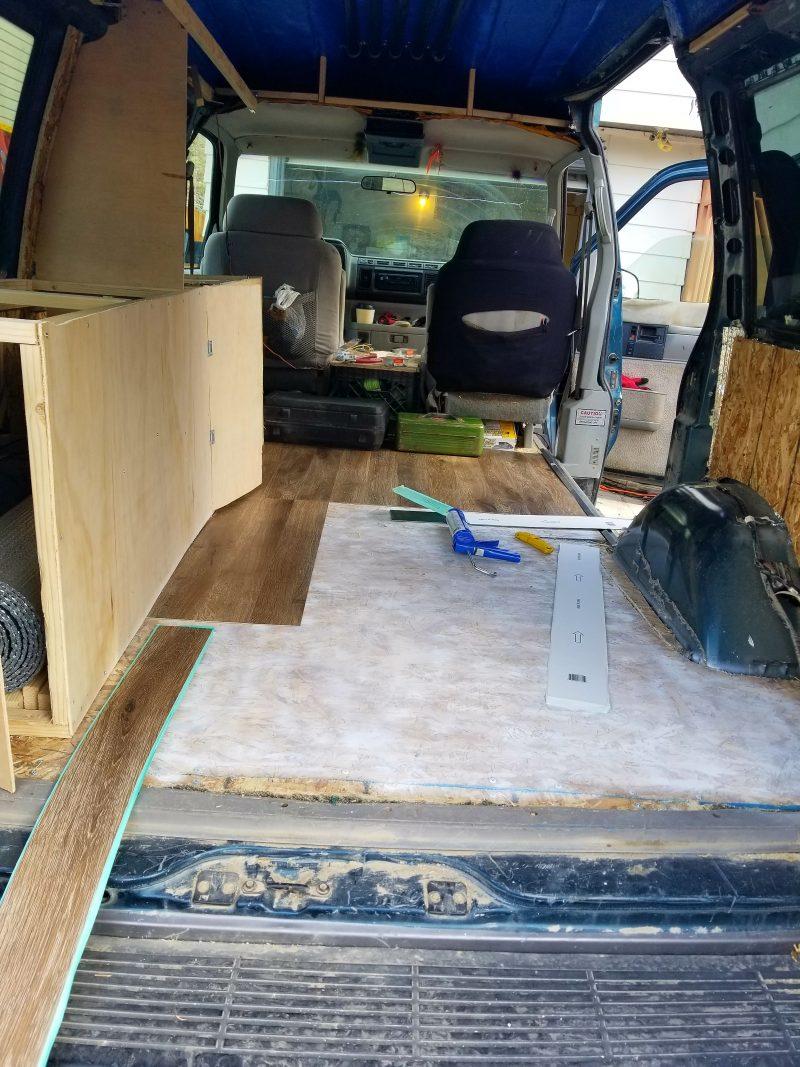 campervan flooring install
