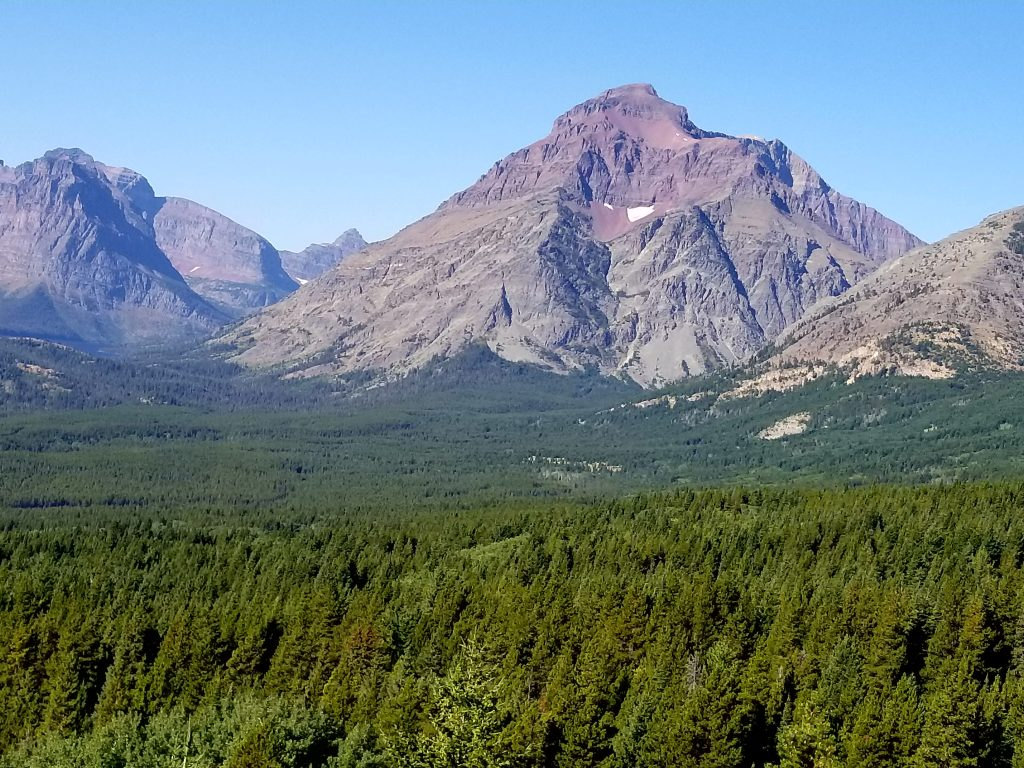 looking into Glacier National Park