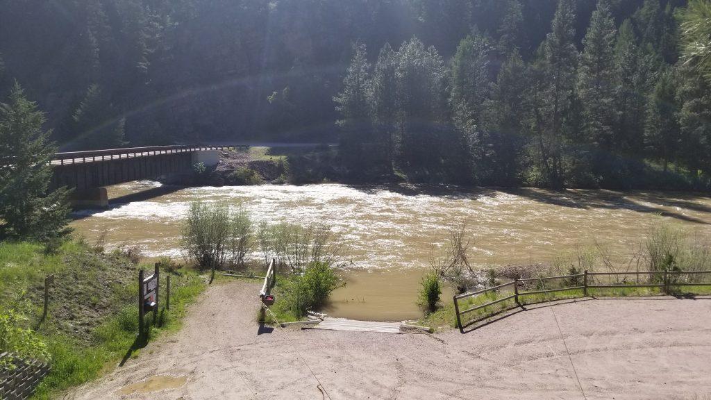 whitaker bridge boat ramp, blackfoot river