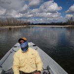rowing a drift boat