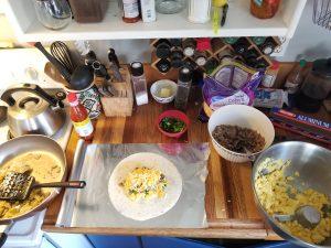 camp breakfast burritos