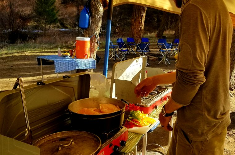 camp chef rainier camper's combo stove review